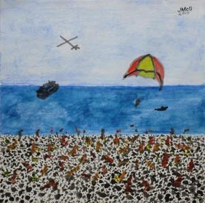 Painting of beach scene