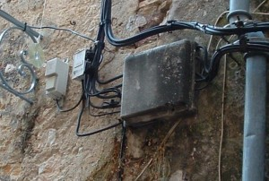 Photo of wiring on a wall