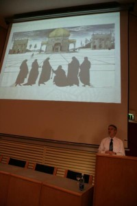 Photo of Jim McGovern giving his inaugural lecture as a Professof of Dublin Institute of Technology