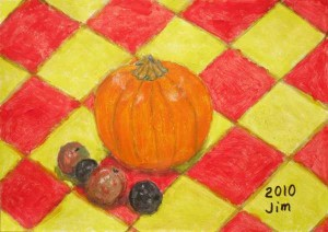 Painting of a pumpkin