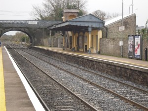 Photo of canopy shelter, Newbridge railway station, Co. Kildare