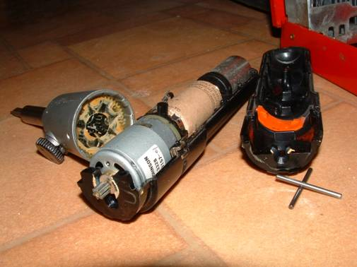 Picture of disassembled electric 